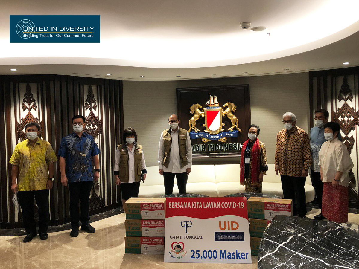 United In Diversity with Gajah Tunggal Group Support, Donates 25 Thousand Masks for Kamar Dagang dan Industri (Kadin) Indonesia